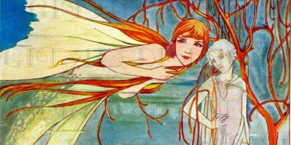 Vintage illustration of The Little Mermaid
