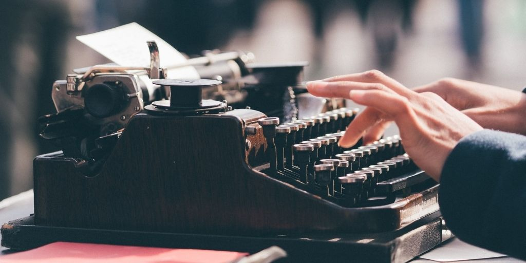 best opening sentences - written on a typewriter